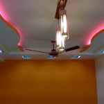 Ceiling with Tray Light