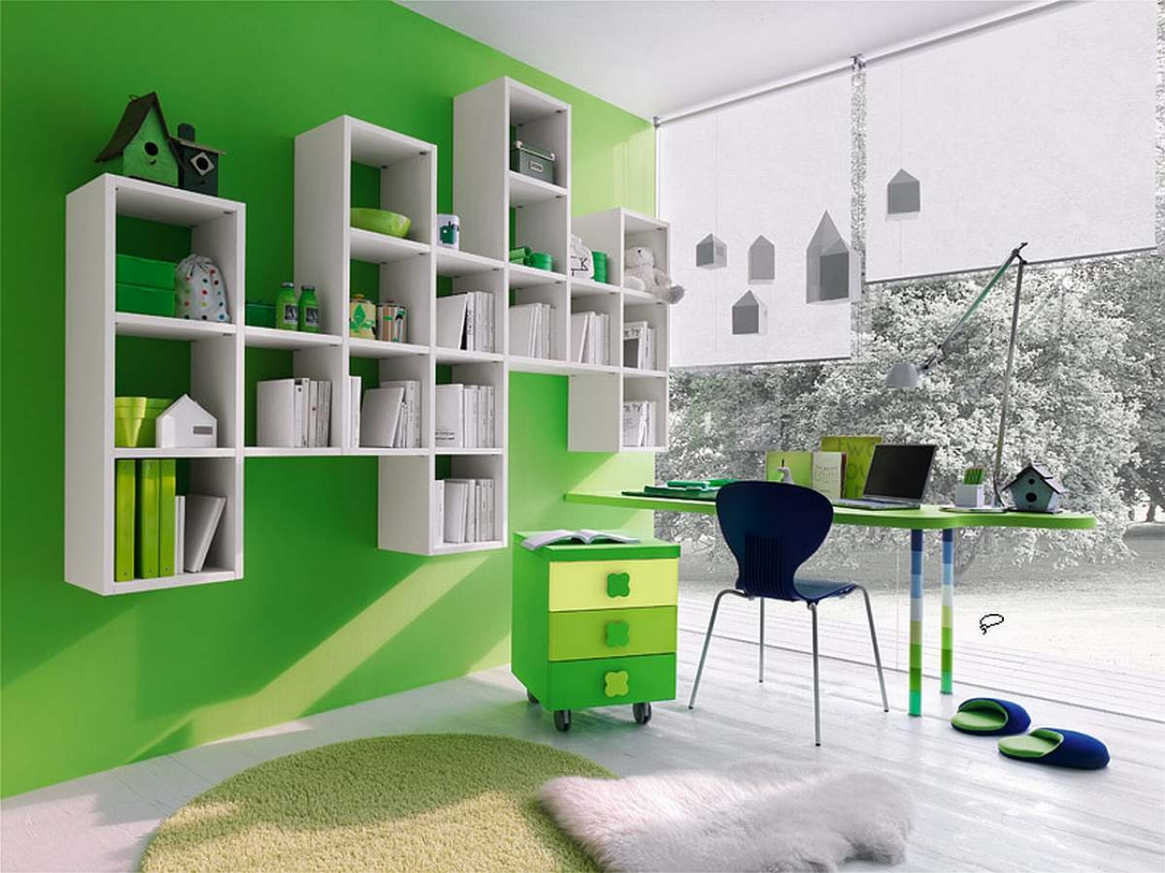 what colour of your room is telling about your personality - Green