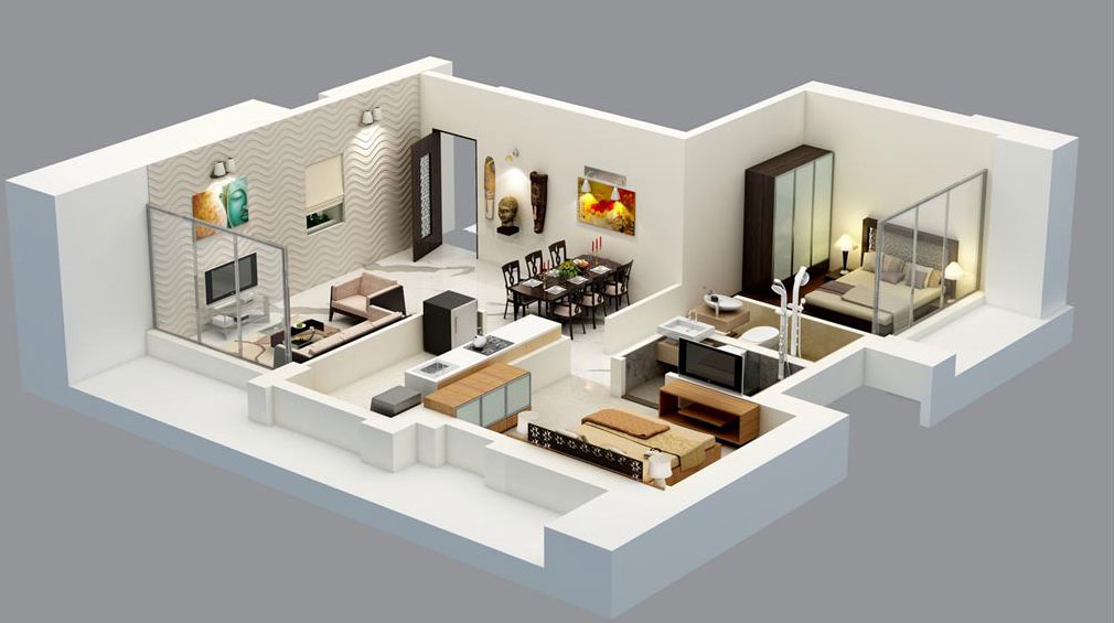2 bhk apartment interior design